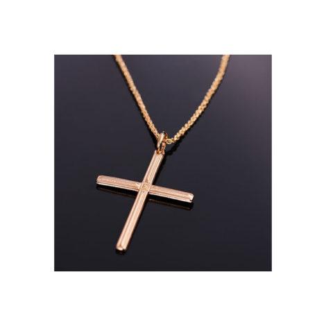 531877 542117 cordao masculino com pingente cruz rommanel colecao homem brilho folheados foto modelo