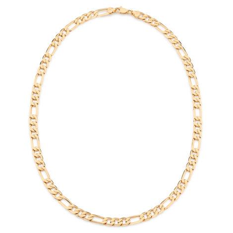 531910 Corrente masculina grossa formada por fio de elos intercalados 3 por 1 folheado a ouro 18k rommanel colecao homem brilho folheados