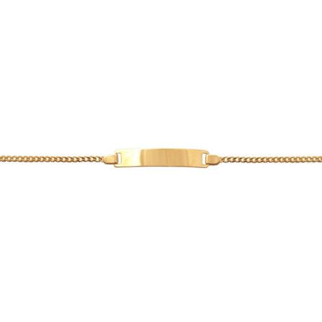BP0063 pulseira infantil chapa 12 cm folheada ouro 18k antialergica marca bruna semijoias loja brilho folheados