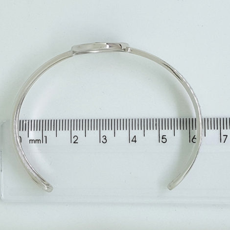 R1700463 bracelete ajustavel medalha de sao bento joia folheada rodio prateado brilho folheados sabrina joias foto na réguaa