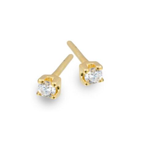 1666400 brinco segundo terceiro furo ponto de luz zirconia branca brilhante caixinha de joia quadrada folheado ouro antialergico sabrina joias brilho folheados