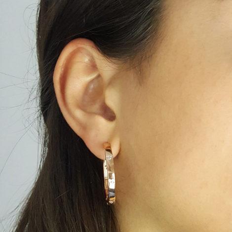 169200 brinco argola rose cartier coracao de zirconia folheado ouro rose brilho folheados sabrina joias modelo