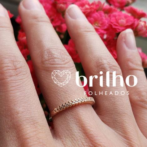 512649 anel meia alianca zirconia marca rommanel loja brilho folheados comprar joia rommanel