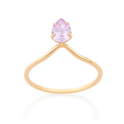512662 anel solitario aro fino detalhe triangulo com gota de zirconia solitaria lilas violeta colecao miss violet rommanel brilho folheados