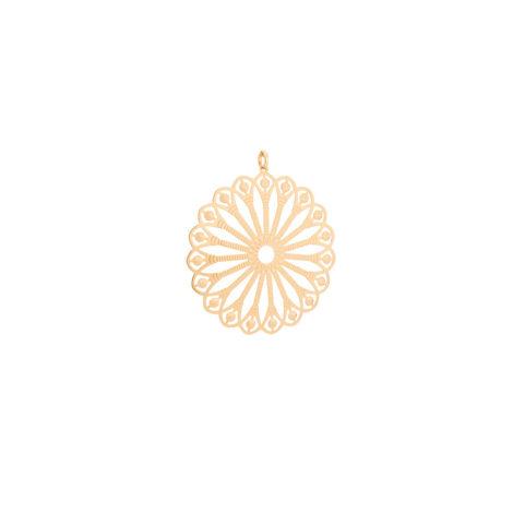 542127 maxi pingente flor girassol estilizado folheado ouro 18k miss violet joia antialergica rommanel brilho folheados