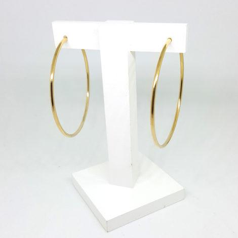 6558000 brinco argola fina media fecho invisivel folheada ouro doruado 18k brilho folheados sabrina joias