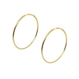 Brinco argola fio folheada ouro 18k média