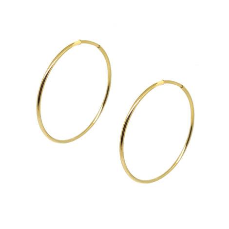 6558000 brinco argola media fecho invisivel folheada ouro dourado 18k sabrina joias brilho folheados brinco antialergico