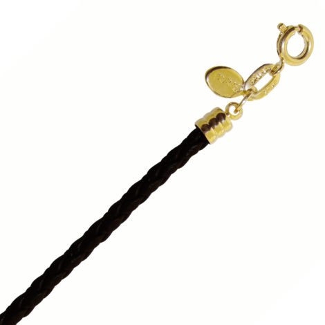 BP0461 pulseira feminina couro sintetico trancado cor preta fecho folheado ouro 18k bruna semijoias brilho folheados