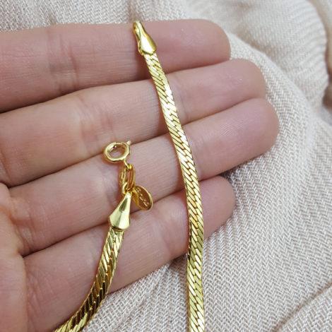 CE0047 pulseira diamantada bruna semijoias brilho folheados foto modelo 2