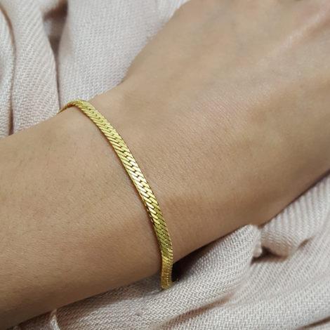 CE0047 pulseira diamantada bruna semijoias brilho folheados foto modelo