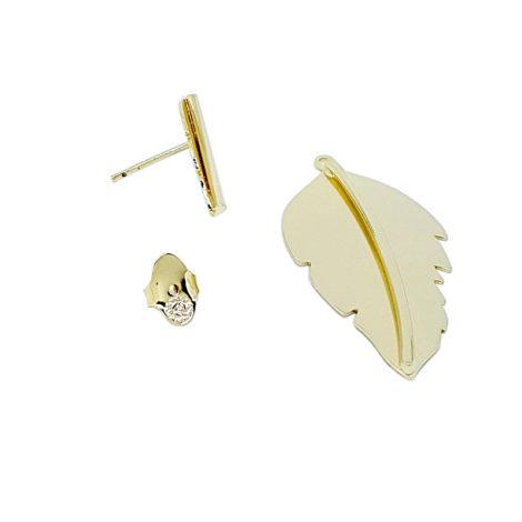 brinco folha karola novela 2 em 1 pequeno e grande joia folheada antialergica sem niquel brilho folheados modelo 5