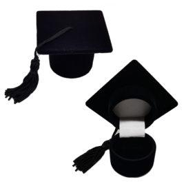 Caixinha chapéu de formando para anel formatura