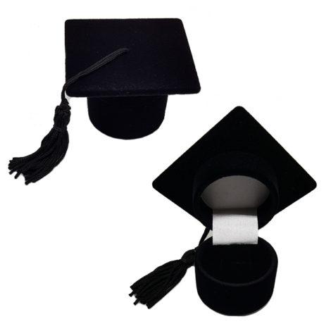 case anel chapeu de formatura brilho folheados
