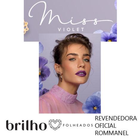 coleca miss violet rommanel primavera 2018 brilho folheados