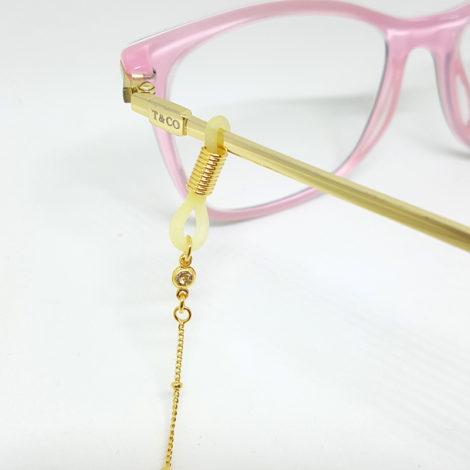 corrente oculos bolinhas metal folheado ouro 18k 70cm comprimento brilho folheados 1