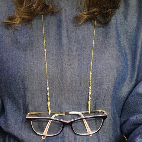 oculos preso ao corpo pura elegancia corrente para oculos cordao para oculos cordinha oculos corrente grumet detalhe de 3 perola folheado ouro dourado 18k brilho folheados