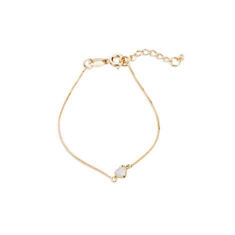 1700466 pulseira infantil pingente coracao de zirconia folheado ouro marca sabrina joias brilho folheados pulseira