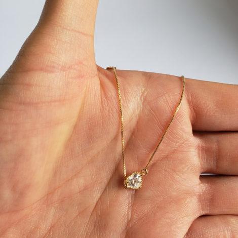 1700466 pulseira infantil pingente coracao de zirconia folheado ouro marca sabrina joias brilho folheados pulseira foto real