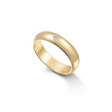1968600 alianca macica feminina com 1 pedra de zirconia brilhante joia folheada ouro dourado 18k marca sabrina joias loja brilho folheados