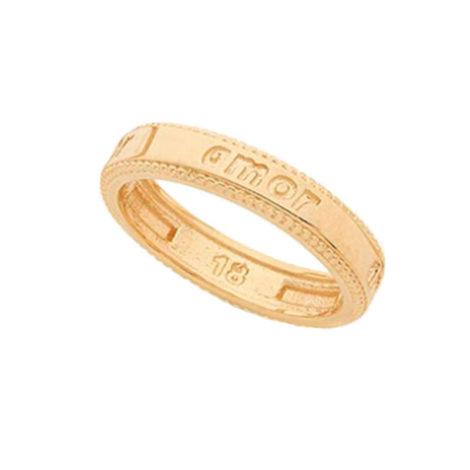512131 anel com a descricao amor joia folheada ouro dourado 18k marca rommanel loja brilho folheados