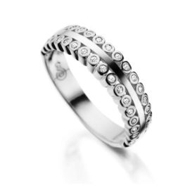 R1910165 anel delicada 34 zirconias bolinhas brilhantes joia folheada rodio branco prata com brilho marca sabrina joias loja brilho folheados