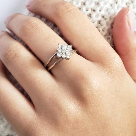 R1910672 anel de formatura 2 em 1 cristal flor de zirconias joia folheada rodio antialergica loja brilho folheados marca sabrina joias
