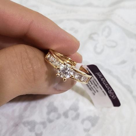 anel solitario zirconia carre rommanel brilho folheados 2