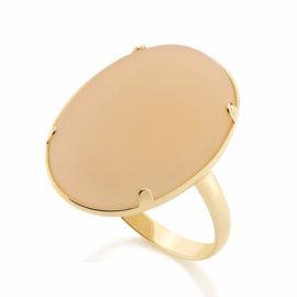 512304 anel pedra oval cor nude fosca joia rommanel 512304 bege loja bilho folheados