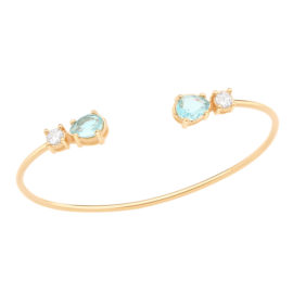 Bracelete Rommanel cristais azul zircônias brancas
