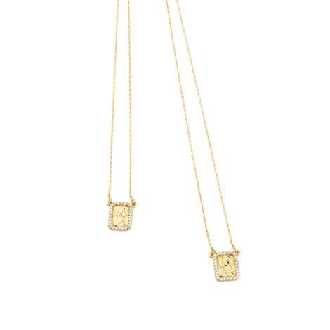 1900425 escapulario feminino 70cm comprimento medalhas cravejadas com zirconias joia folheada ouro 18k marca sabrina joias loja brilho folheados