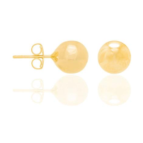 520470 brinco bola grande lisa e polida folheado ouro dourado marca rommanel loja brilho folheados 1