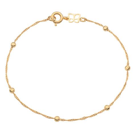 551203 pulseira malha cingapura com bolinhas de metal 3mm pulseira com 18cm de comprimento feminina marca rommanel loja brilho folheados