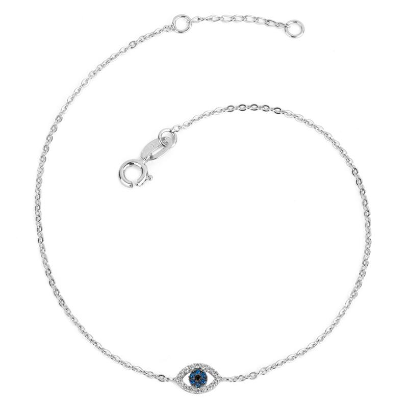 a5d6ba10a6 Tornozeleira olho grego mini em zircônia 25 cm joia Sabrina R1700297