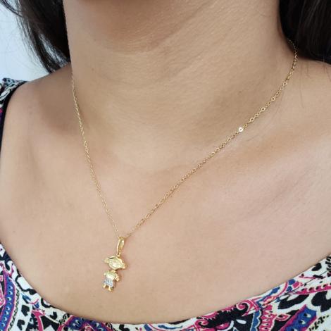 1800017 colar menina filha com zirconia joia folheada a ouro brilho folheados sabrina joias foto modelo