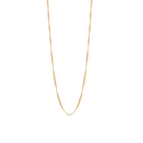 530591 orrente formada por fio cingapura espessura media 50cm comprimento folheada ouro marca rommanel loja brilho folheados