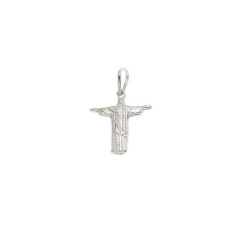Pingente em prata Cristo Redentor pequeno