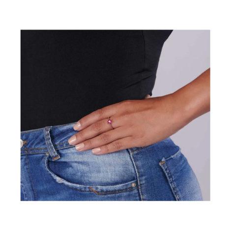 512728 anel skinny ring folheado a ouro com zircônia de coração joia rommanel colecao gratidao loja brilho folheados foto modelo