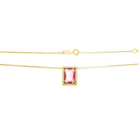 531983 gargantilha folheada a ouro com zircônias e cristal 50cm joia rommanel colecao gratidao loja brilho folheados 1
