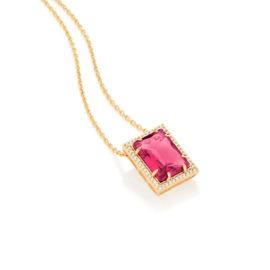 531983 gargantilha folheada a ouro com zircônias e cristal 50cm joia rommanel colecao gratidao loja brilho folheados
