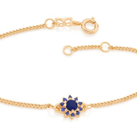 551608 pulseira feminina flor zirconias azuis joia rommanel colecao gratidao loja brilho folheados 1