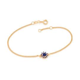 551608 pulseira feminina flor zirconias azuis joia rommanel colecao gratidao loja brilho folheados