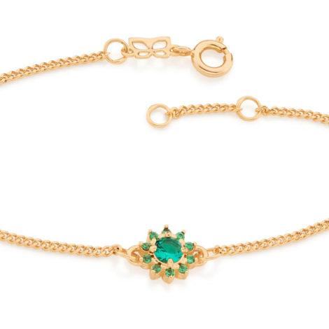 551608 pulseira feminina flor zirconias verdes joia rommanel colecao gratidao loja brilho folheados