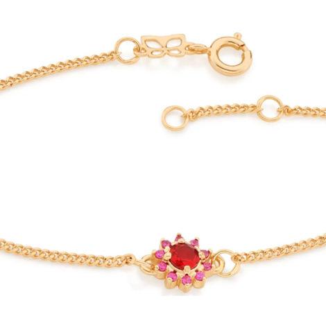 551608 pulseira feminina flor zirconias vermelha e rosa joia rommanel colecao gratidao loja brilho folheados 1