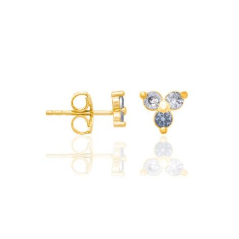 526297 brinco folheado a ouro triângulo com zircônias azul claro joia rommanel colecao gratidao loja brilho folheados 1