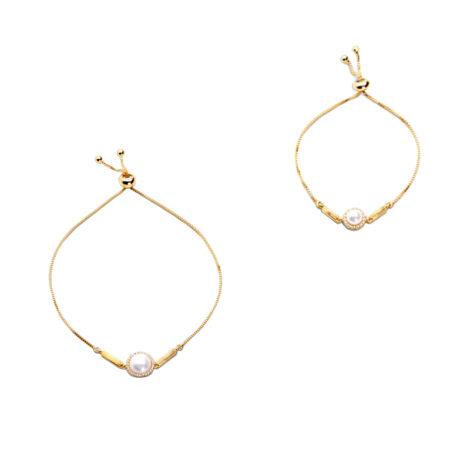 1700525 1700527 pulseira meia perola com zirconia para mae e para filha joia folheada a ouro 18k marca sabrina joias loja brilho folheados