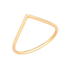 512449 Anel skinny ring formado por aro fino com curvatura em v na parte superior joia rommanel loja brilho folheados