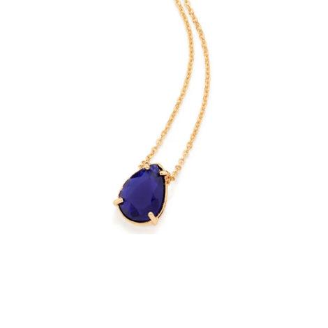 531964 Gargantilha no formato de gota com zirconia azul joia folheada a ouro joia rommanel colecao gratidao loja brilho folheados.jpn