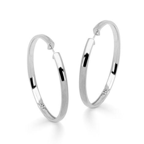 R1690245 brinco argola grande fecho clique acamento liso e polido folheado rodio branco marca sabrina joias loja brilho folheados