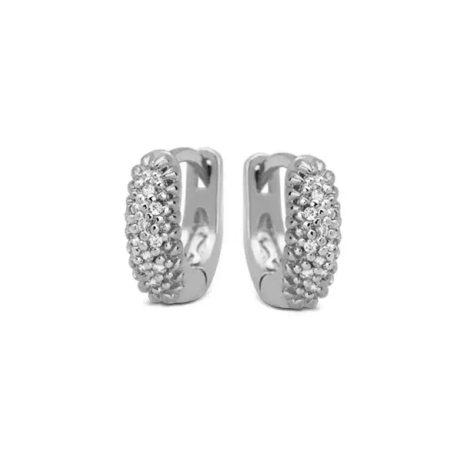 R1690334 brinco argola pequena com zirconia branca joia folheada rodio branco marca sabrina joias loja brilho folheados